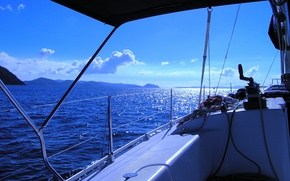 Picture sea, the sun, the way, mood, yacht