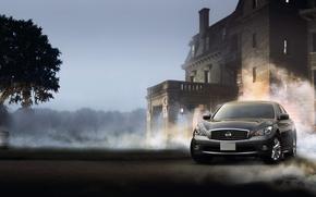 Wallpaper smoke, nissan fuga cars, fog, home, dust, Nissan, machine