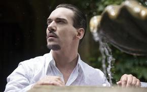 Picture water, light, actor, fountain, the series, shirt, men, character, Dracula, Dracula, NBC, TV show, Jonathan …