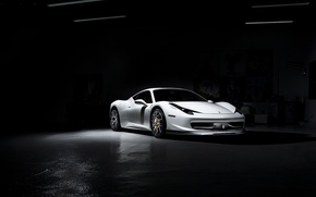 Picture white, light, white, ferrari, Italy, 458 italia, Ferrari
