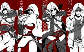 Picture assassins creed, Altair, ezio, altair, Ezio auditore da Firenze, connor, Connor kenuey, assassins, desmond, Desmond …