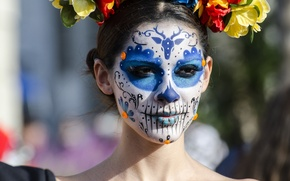 Picture face, style, paint, day of the dead, day of the dead