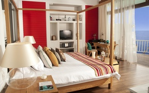Picture sea, comfort, background, room, stay, interior, bedroom
