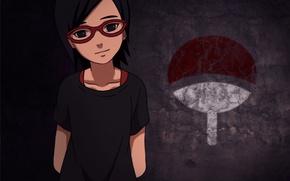 Picture girl, logo, game, Naruto, anime, ninja, asian, glasses, pose, manga, shinobi, japanese, oriental, asiatic, live …