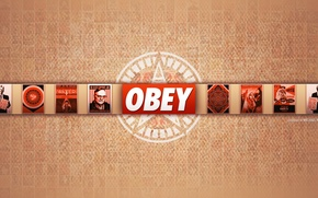 Picture red, obey, Wallpaper
