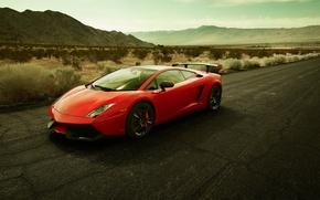 Wallpaper road, red, Lamborghini, galardo, Lamborghini gallardo LP570-4