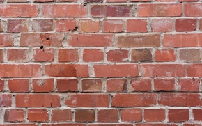 Picture red, wall, bricks, cement