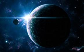 Wallpaper Stars, Galaxy, light, satellite, Planet