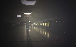 Picture light, train, Metro, Kazan