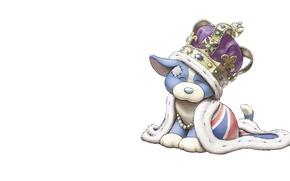 Picture crown, art, mantle, puppy, children's