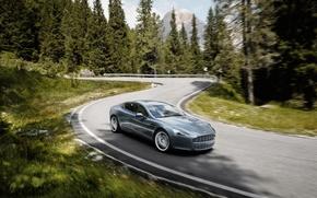 Wallpaper road, Rapide, speed, Aston martin