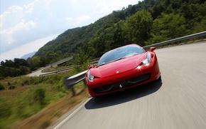 Picture road, ferrari, Ferrari, 458 italia