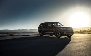 Picture Land Rover, Range Rover, Car, Sky, Front, Sun, Matte Black