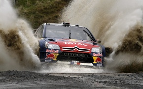 Picture Water, Race, Citroen, Squirt, Lights, Red Bull, DS3, WRC, Rally, Rally