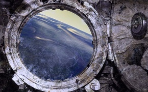 Picture planet., view, the window, Stone