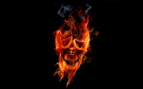 Picture fire, Skull, fire, sake, flame