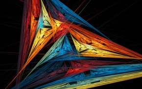 Picture rays, light, line, pattern, color, shadow, sail, triangle
