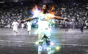Picture field, football, Ronaldo