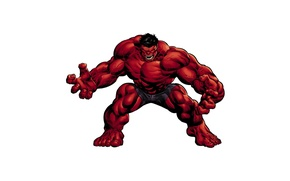 Picture power, pose, Red Hulk