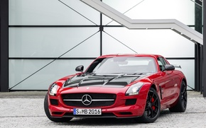 Picture Mercedes-Benz, ladder, red, AMG, SLS, C197, Final Edition
