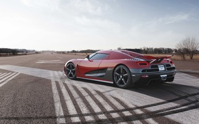 Picture the sky, red, Koenigsegg, supercar, rear view, hypercar, agera R, Koenigsegg, Agera R