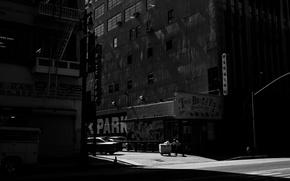 Picture Man, Wallpaper, Black & White, Rinzi Ruiz, Photo, Car, Doorway