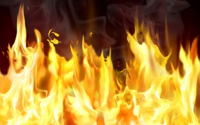 Wallpaper Pyromania, Fire, smoke