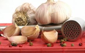 Picture pepper, slices, Garlic