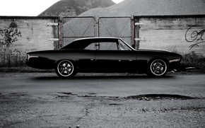 Picture Chevrolet, black, Chevelle, right side, The Sickness
