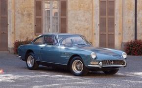 Picture Blue, Retro, Pavers, Ferrari, 330
