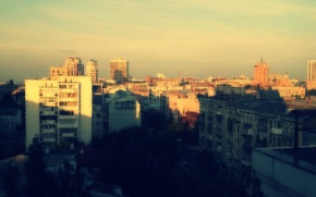 Picture sunset, Ukraine, Kiev