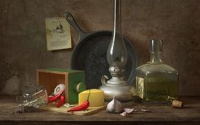 Picture still life, Still life with black pepper, Daniil V. Alikov