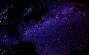 Picture the sky, space, stars, night, The milky way, milky way