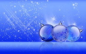 Picture balls, blue, Toys, Christmas