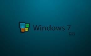 Picture background, icon, logo, windows 7, seven, dee studio