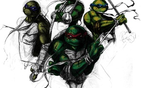 Picture art, Leo, Mikey, RAF, Tmnt, Don