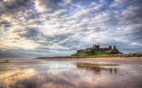 Picture landscape, Bamburgh Castle, Northumberland