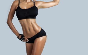 Wallpaper female figure, desired body, perseverance, exercise, healthy lifestyle, diet
