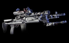 Picture weapons, background, optics, rifle, M1A, fry, semi-automatic