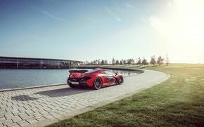 Picture McLaren, Red, Sun, Supercar, Hypercar, Exotic, Rear, MSO