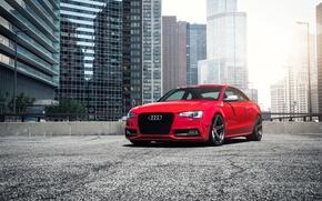 Picture car, red, Audi B8.5