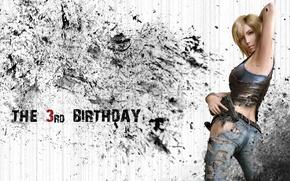 Picture girl, gun, blonde, Parasite Eve, Aya Brea, The 3rd birthday