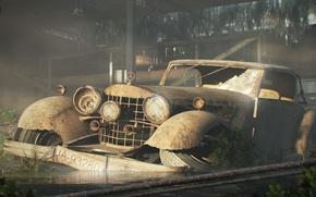 Picture auto, 156, broken, old