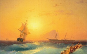 Wallpaper sea, picture, painting, Aivazovsky