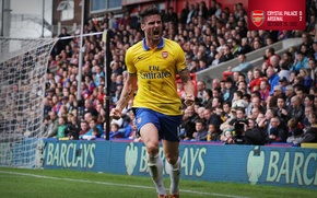 Picture background, Arsenal, tribune, player, Arsenal, Football Club, The Gunners, The gunners, Football club, Olivier Giroud, …