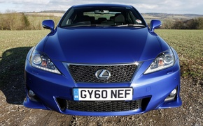 Picture nature, cars., lexus is-F, blue is-F