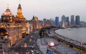 Picture street, home, China, Shanghai, Shanghai, skyscrapers