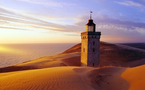 Picture sand, the sky, castle, desert
