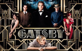 Wallpaper poster, drama, Leonardo DiCaprio, Isla Fisher, Isla Fisher, Leonardo DiCaprio, The Great Gatsby, Carey Mulligan, ...