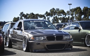 Picture bmw, tuning, germany, low, stance, e46
